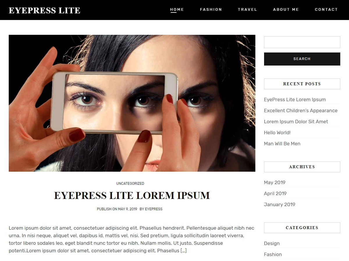 Eyepress Lite business WordPress theme