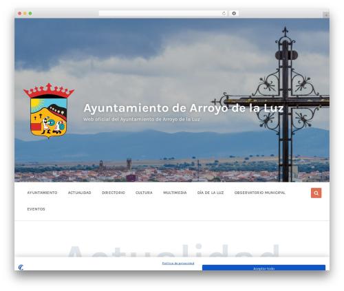Pressville WordPress template - arroyodelaluz.es