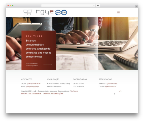 WordPress theme Betheme - rg4e.pt