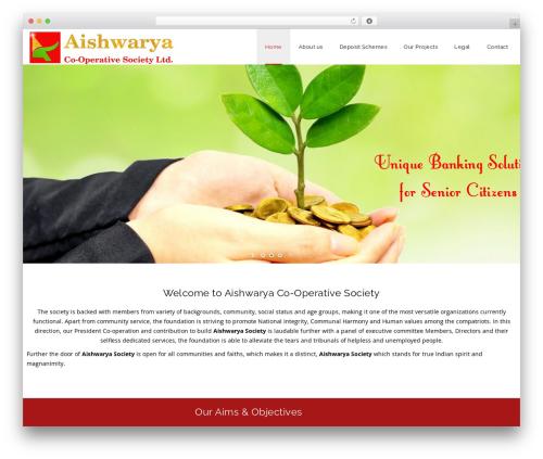 WordPress website template Veda - aishwaryasociety.com