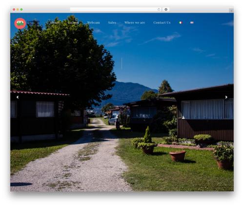 CampingVillage garden WordPress theme - campeggiobelvedere.com