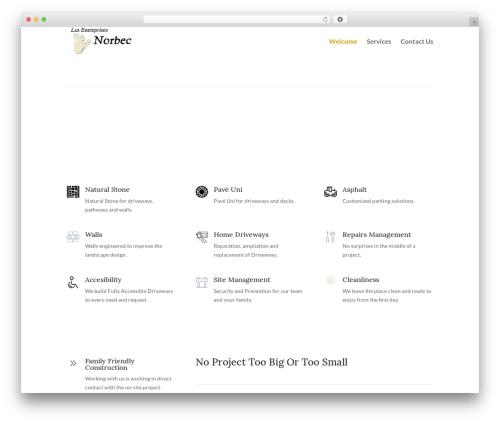Divi premium WordPress theme - lesentreprisesnorbec.com