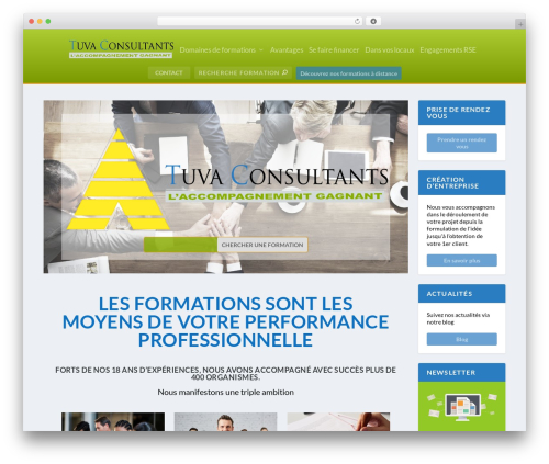 Extra WordPress theme - tuva-consultants.com