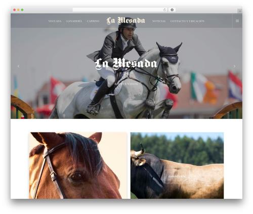 Movedo WordPress theme - lamesada.es