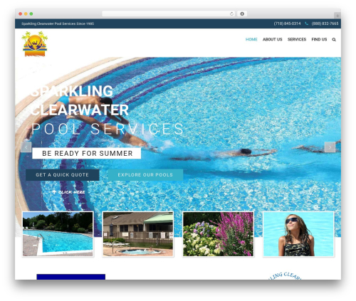 WordPress theme SwimmingPool - sparklingclearwater.com