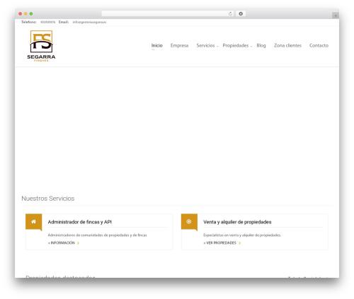 Zoner top WordPress theme - fincas-segarra.com