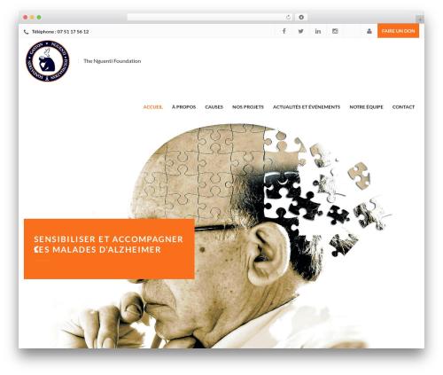 Best WordPress template Charity WPL - nguentifoundation.org