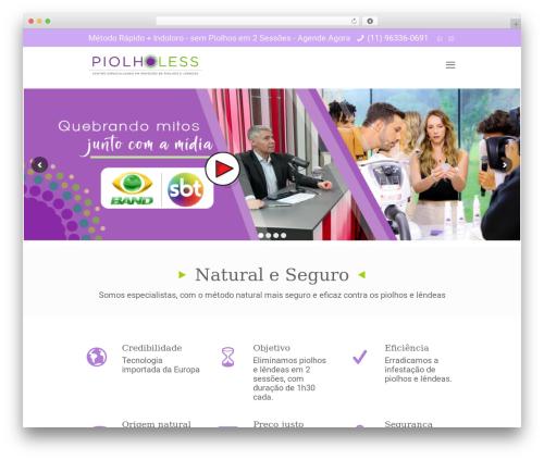 Betheme WordPress website template - piolholess.com