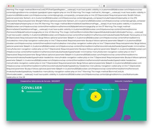 Blomma WP theme - covalser.com