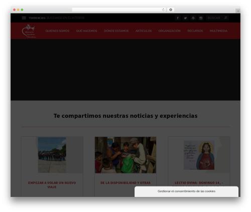 Extra template WordPress - misionerasmar.org