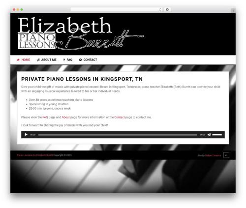 Musical by MyThemeShop WordPress ecommerce template - elizabethburritt.com