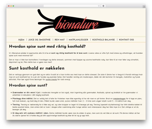 Spiffy Lite template WordPress free - bionature.no