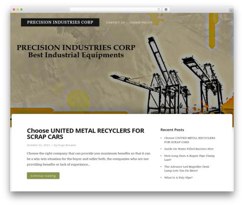 Typit WordPress theme - precisionindustriescorp.com