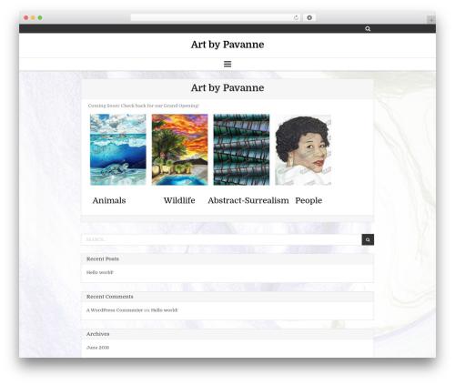 WordPress template Clean Gallery - pavanne.com