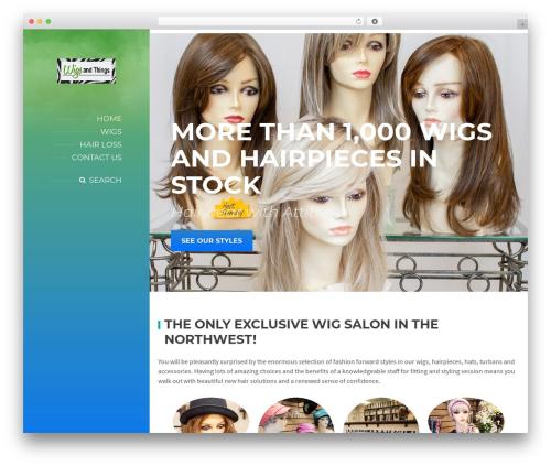 WordPress website template BeautySpot - wigs-things.com