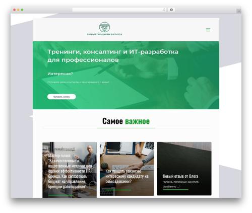 Betheme WordPress template - prof-biz.ru