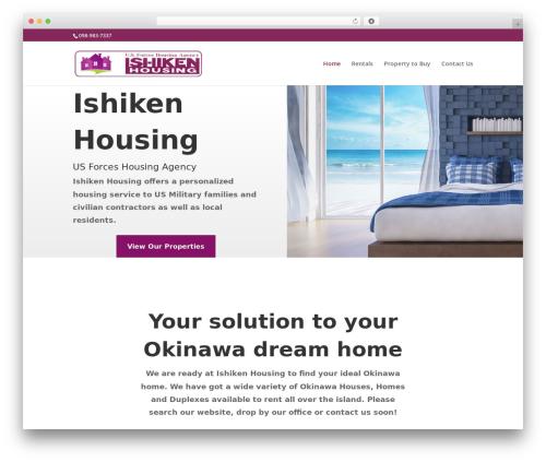 Divi WordPress theme - ishikenhousingokinawa.com