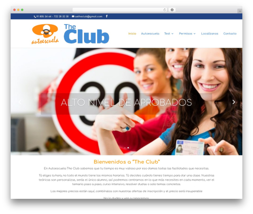 Divi WordPress theme - autoescuelatheclub.com