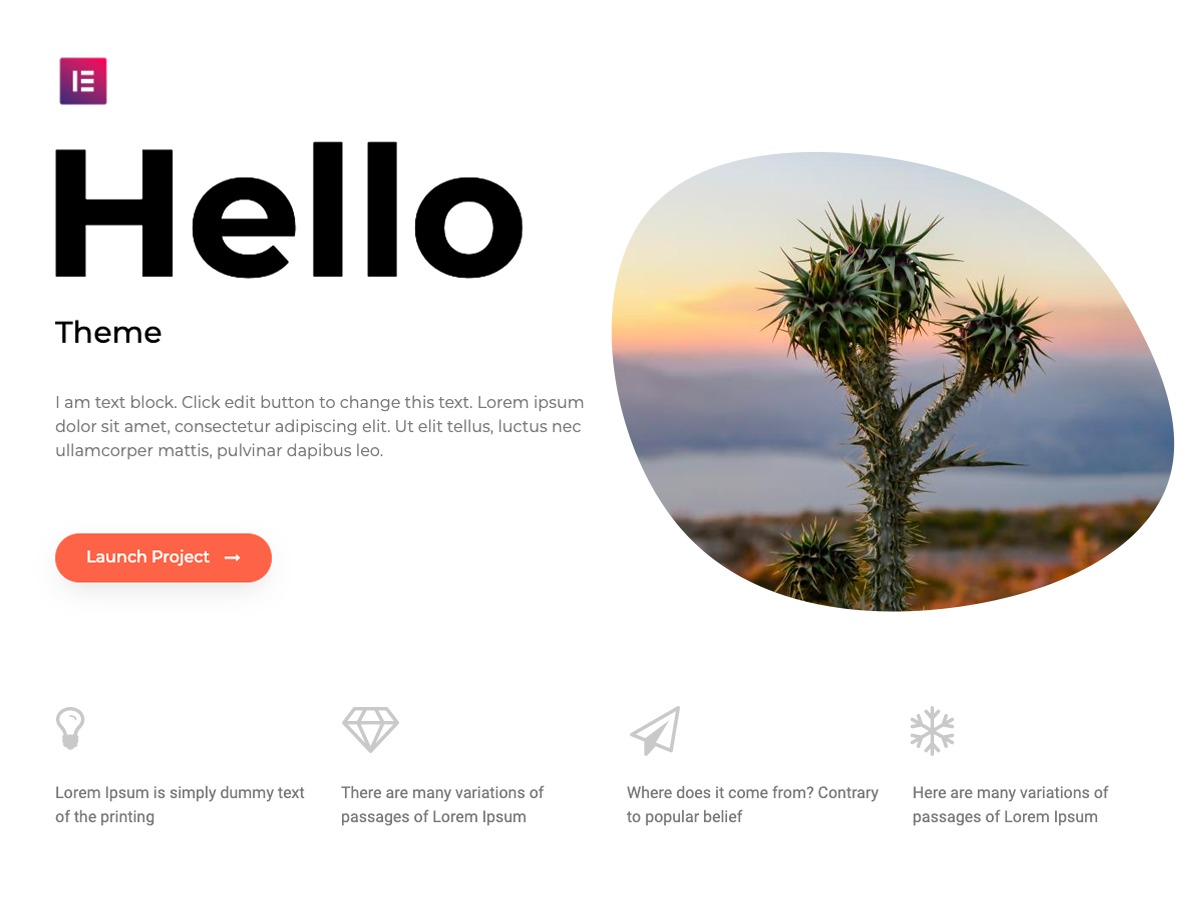 Hello Elementor best WordPress theme