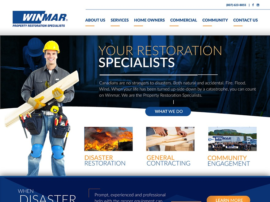 WINMAR Franchise WordPress theme