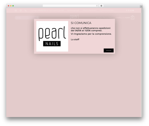 WordPress theme Flatsome - pearlnails.it