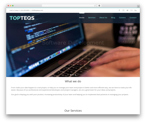 Avada best WordPress template - topteqs.com