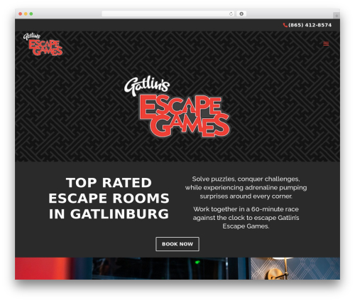 Divi WordPress gaming theme - gatlinsescapegames.com