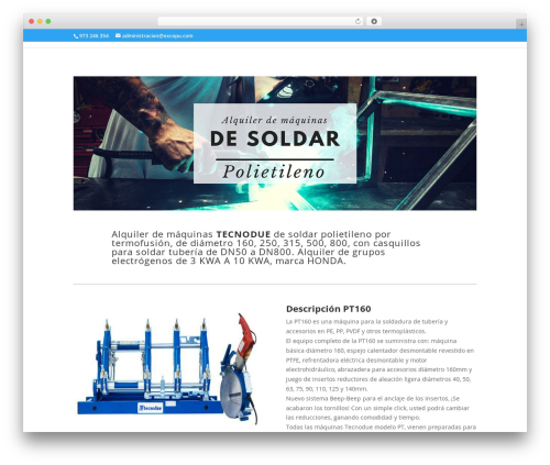 Divi WordPress theme design - excopu.com