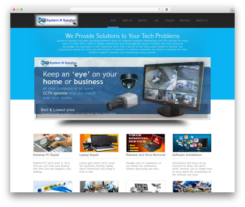 Simplicity Lite theme WordPress - systemnsolution.com