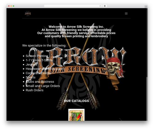 Template WordPress Betheme - arrowsilkscreening.com
