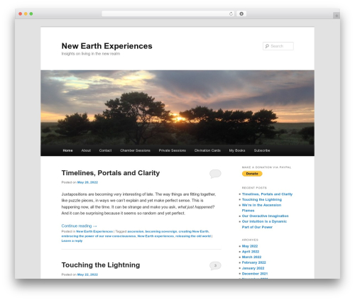 Twenty Eleven free WordPress theme - terryandrews.org