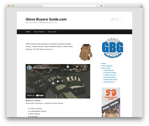 Twenty Eleven WordPress theme download - glovebuyersguide.com