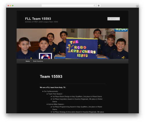 WordPress theme Twenty Eleven - team15593.org