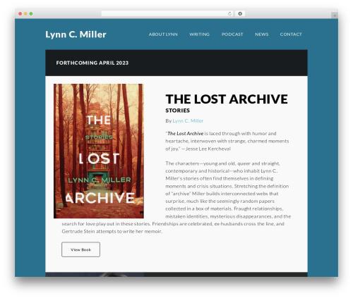 Author Pro top WordPress theme - lynncmiller.com