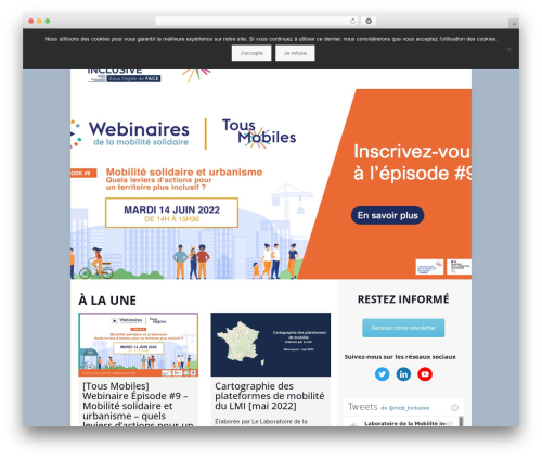 Betheme WordPress theme - mobiliteinclusive.com