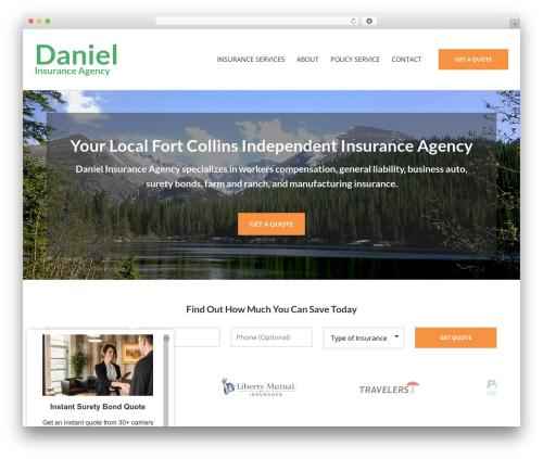 WordPress website template BrightFire Stellar - danielinsuranceagencyllc.com