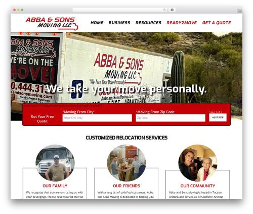 WP template Movedo - abbaandsonsmoving.com