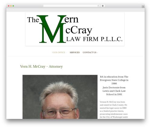 ZenLife WordPress template for business - vernmccraylaw.com