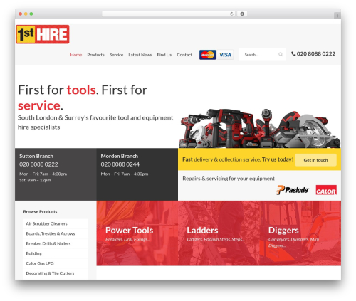1st Hire WordPress page template - 1sthire.com