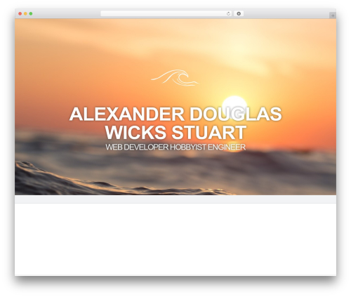 Harmony best WordPress theme - alexanderdwstuart.com
