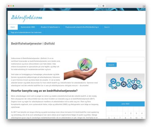 health-center-lite free WP theme - bhtostfold.com