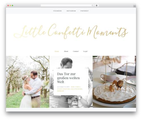 Carbis WordPress theme - littleconfettimoments.com