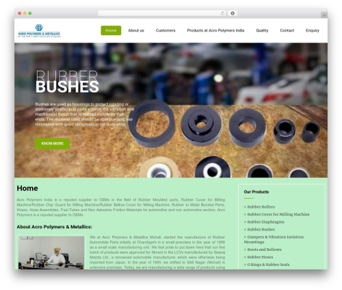 Eco Friendly Lite WordPress page template - acropolymersindia.com