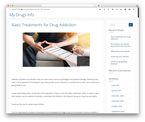 Jakobian WordPress theme design - mydrugsinfo.com