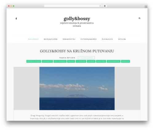 Mini Blog WordPress blog template - gollynbossy.com