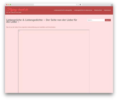 Truelove WordPress theme download - flying-heart.de