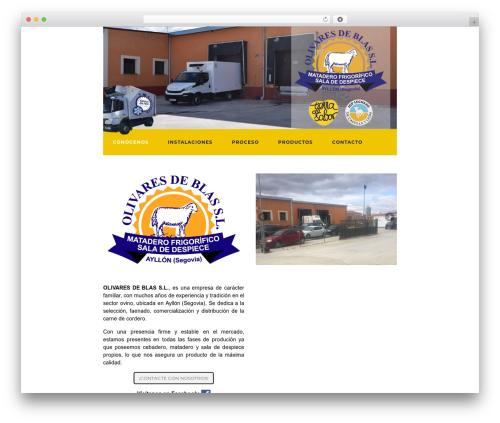Activello best free WordPress theme - olivaresdeblas.com