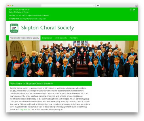 Business Green company WordPress theme - skiptonchoralsociety.com