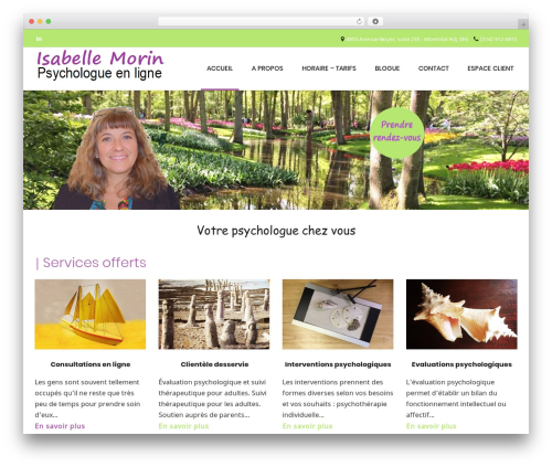 Conica free WordPress theme - isabellemorinpsy.com