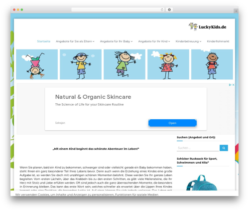 Flash premium WordPress theme - luckykids.de